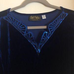 Black Bob Mackie embroidered jacket size large.
